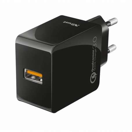 pCARGADOR USB DE PARED ULTRARRaPIDO CON QC30 Y DETECCIoN AUTOMaTICAbrCargador USB universal ultrarrapido con toma de corriente
