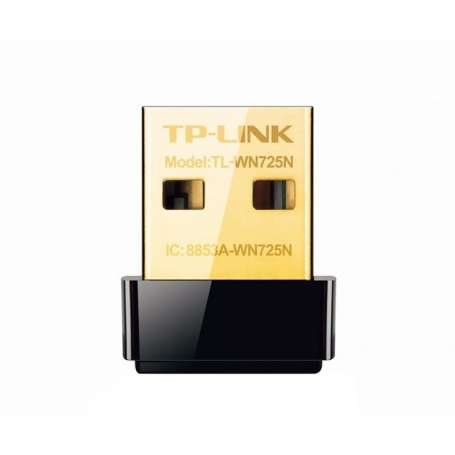 pAdaptador USB Nano Inalambrico N de 150Mbps TL WN725Nbrh2Prestaciones h2brulliDiseno liso y brillante en miniatura tan pequeno
