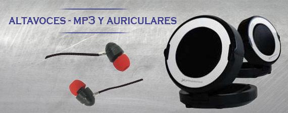 Altavoces, mp3 y auriculares